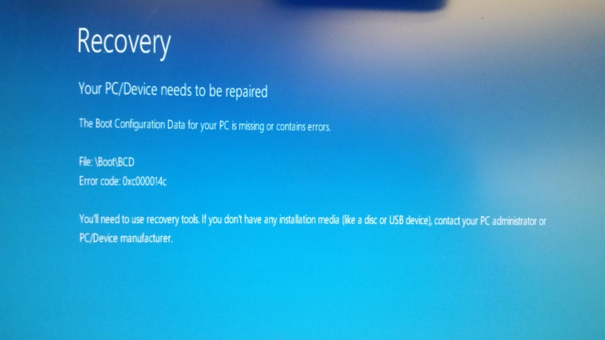 Windows 10 boot issue repair – Redlance Computer Consulting, Inc